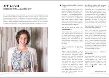 Alexandra Sixt – Interview with the Mercedes Guide for Ibiza